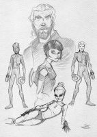 Tron Sketches by bluespottedfrog