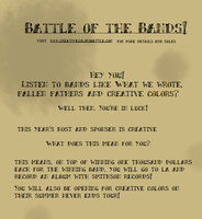 Battle of the Bands Poster (Focal Point Promo) by Shadows-Of-Despair