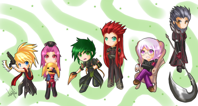 Six God General Chibis by kaiser-mony