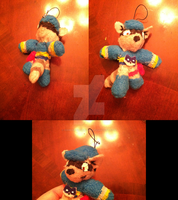 Sly Cooper Plushie Mobile Charm by GaneneTheDefendra