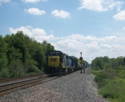 Eastbound CSX Local by LDLAWRENCE