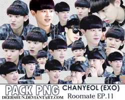 [140715] [PACK PNG] Chanyeol - Roomate ep11 by deershun