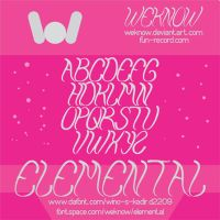 elemental font by weknow by weknow