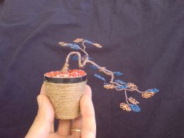 Miniature Wire Bonsai Tree 11-1 by sinisaart