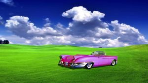 Hot Pink '57 Cadillac Biarritz Convertible by RHuggs