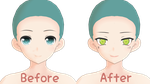 Before and After [Tsumi Miku Face Edit] by PriChama