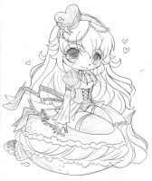 Macaroon Chibi Commission: Sketch by YamPuff