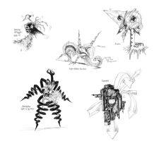 Random Creature Sketches 7 by JNRedmon