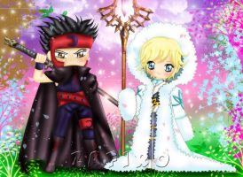 +Chibis Fay and Kurogane+ by Zafiro-Chan