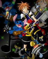 KH2 Rock and Roll by YunaSakura
