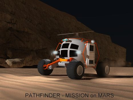 Pathfinder - trucks for Mars by davidfly