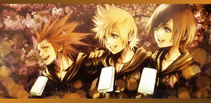 Axel, Roxas, and Xion by Mr-3nter