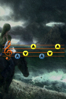Song of Storms iPhone bg by gameover89