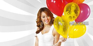 Miley Balloons by mikeygraphics