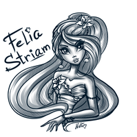 Monster High - Felia Stream. Dress sketch by LaminaNati