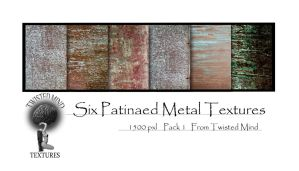 Twisted Mind 6 patinaed Metal Textures by Textures-and-More