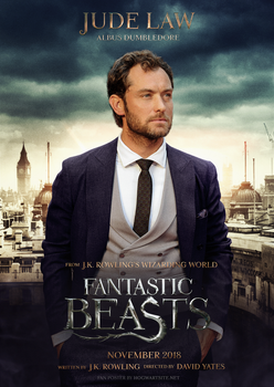 Jude Law as Albus Dumbledore in Fantastic Beasts 2 by HogwartSite