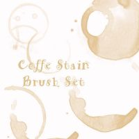 Coffe Stain Brush Set by eMelody