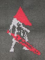 Pyramid Head Silhouette by siths-stitches