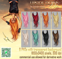 Upside Down HAIR STOCK by Trisste-stocks
