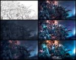 Fan art drawing process - Aion: The Asmodian by engkit