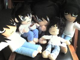 my L plushies by VioletLunchell
