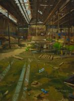 The old Glebe Tramsheds by crump3t