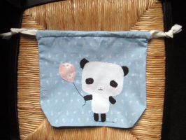 panda drawstring bag by gurliebot