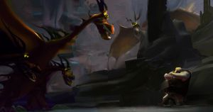 How to Train Your Dragon Color Rough by NathanFowkesArt