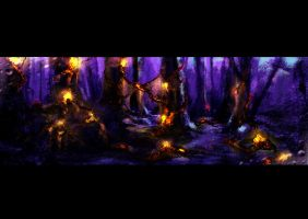 Contaminated forest by akenator