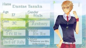 :IH: Dantae Tanaka Application by Nika-tan