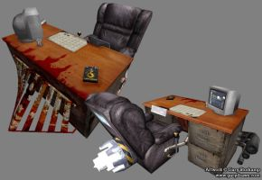 Rocket Desk - Game Model by GaryStorkamp