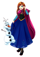 Frozen - Anna and Olaf by tofuproductionz