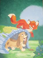 Fox And The Hound by Whisperofthebeast