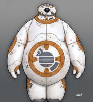 Baymax BB8 by gegidharmika