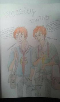Fred and George Weasley  by BluePrinceArrow