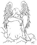 Angel Weeping Tattoo Flash2 by TheMacRat