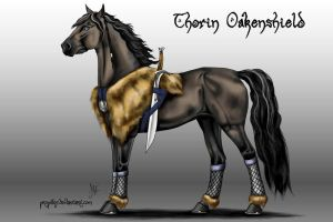 HOBBIT horses - Thorin Oakenshield by Propilley