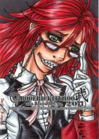 Grell. ACEO by Hatter2theHare