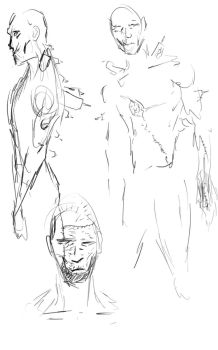 The Sketches of Frankenstein's Monster by Ec87