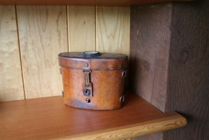 antique leather case by cyborgsuzystock