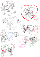THIS SKETCH DUMP CONTAINS SKETCHIE STUFF by Brashgirl901
