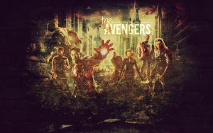 Avengers Wallpaper by bubblenubbins
