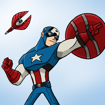 Captain America by natexopher