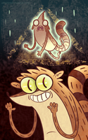 Bill Cipher Takes Rigby by Krissalty