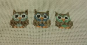 Three Owls Cross Stitch by RambleNinja