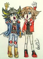 yusei and jaden by coolartsbyabt