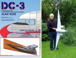 The Alan Rose DC-3 Paper model by Rubenandres77