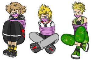 Sora , Roxas and Hayner GID by SteeL-Loves-Kairi