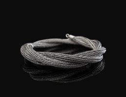 Viking knit , silver wire by CajkaCZ